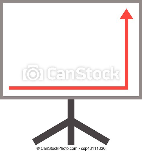 Arrow Pointing Right Down And Up On Board Vector White Board With