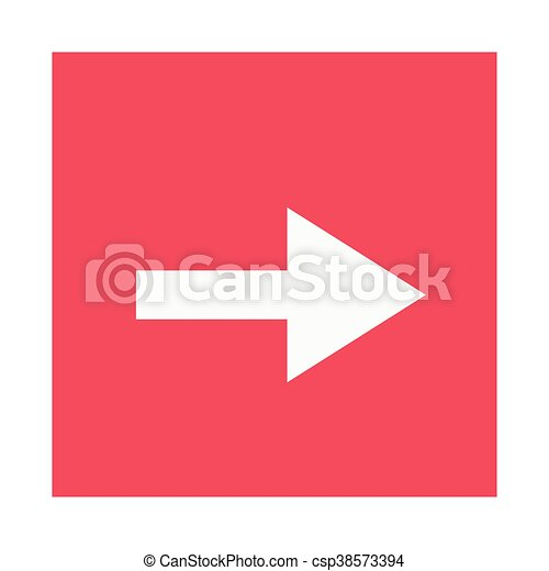 arrow pointing right inside square icon - csp38573394