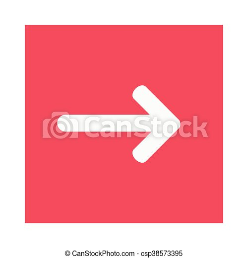 arrow pointing right inside square icon - csp38573395