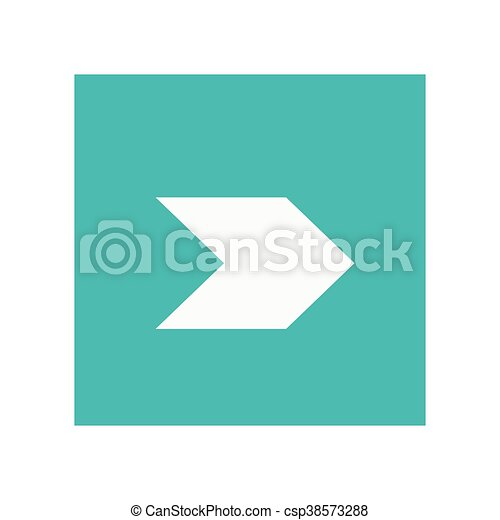 arrow pointing right inside square icon - csp38573288