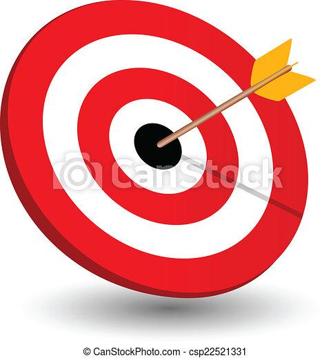 Arrow right on target, symbol of winning - csp22521331