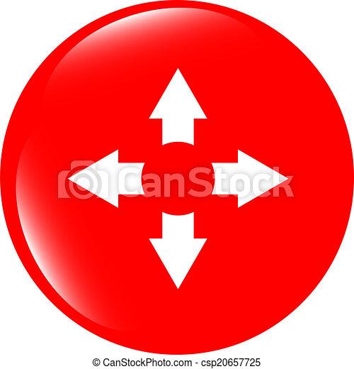 arrow set on web icon (button) - csp20657725