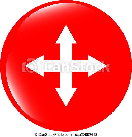 arrow set on web icon (button) - csp20882413