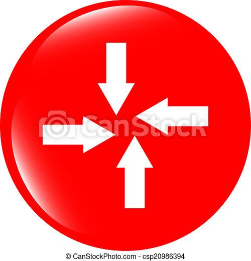 arrow set on web icon (button) - csp20986394