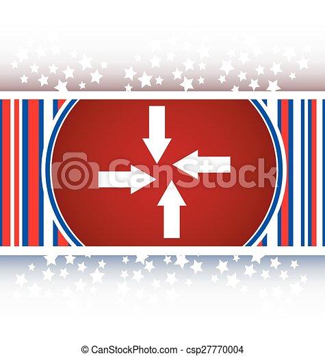 arrow set on web icon (button) - csp27770004