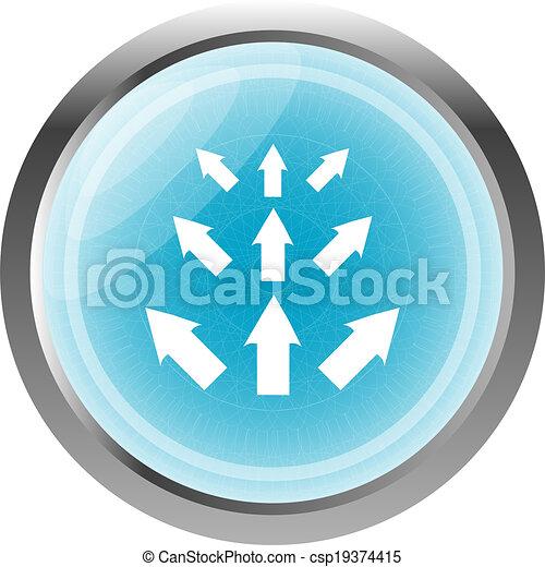 arrow set. web icon button isolated on white - csp19374415