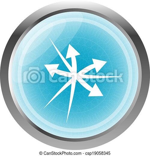 arrow set. web icon button isolated on white - csp19058345