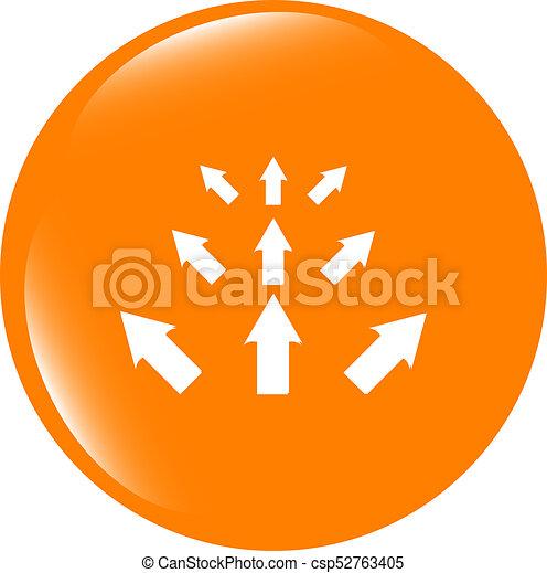 arrow set. web icon button isolated on white - csp52763405