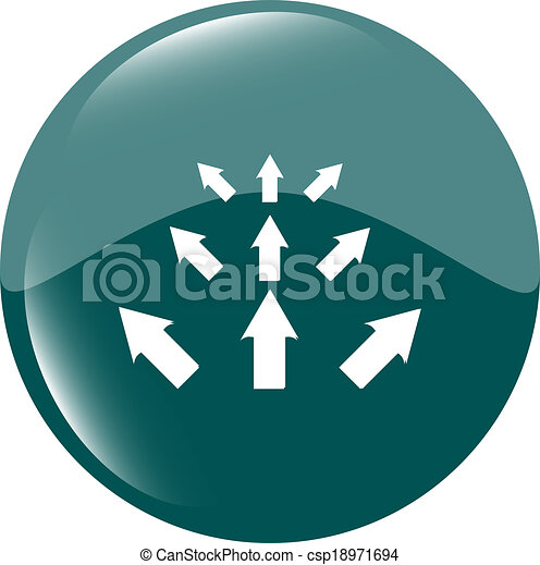 arrow set. web icon button isolated on white - csp18971694