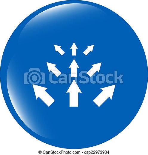 arrow set. web icon button isolated on white - csp22973934