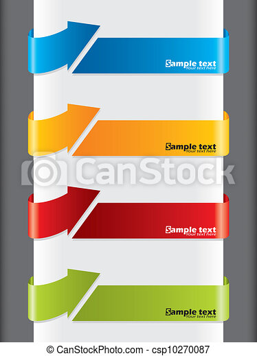 Arrow shaped advertising labels - csp10270087