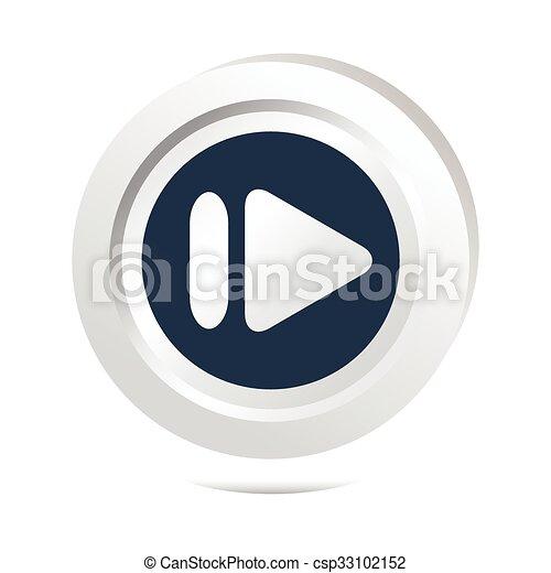Arrow sign button icon - csp33102152