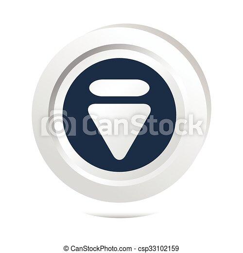 Arrow sign button icon - csp33102159