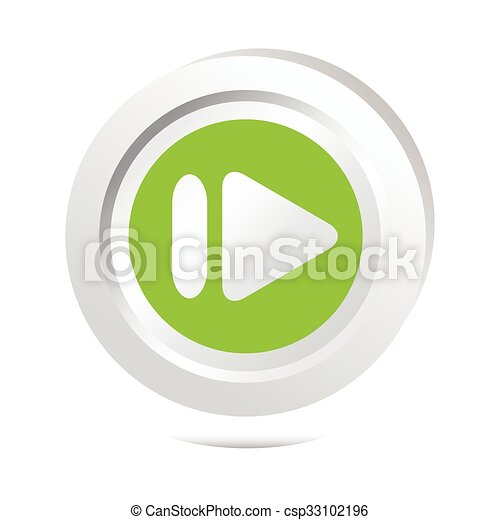 Arrow sign button icon - csp33102196