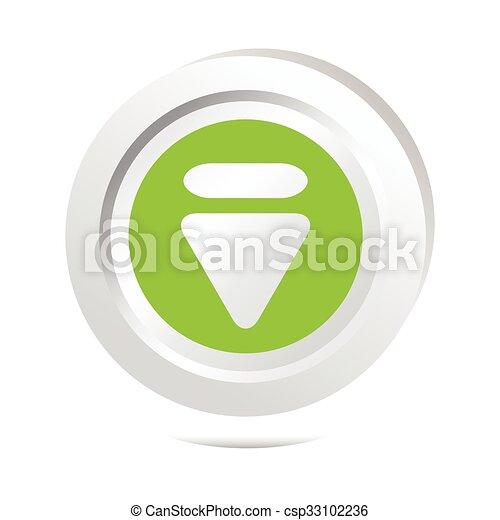 Arrow sign button icon - csp33102236