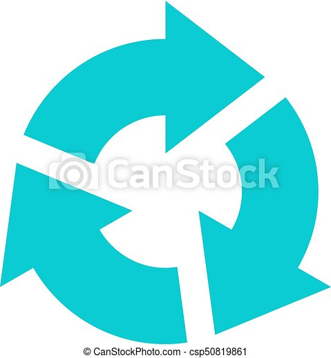 Arrow sign rotation icon reload button refresh - csp50819861