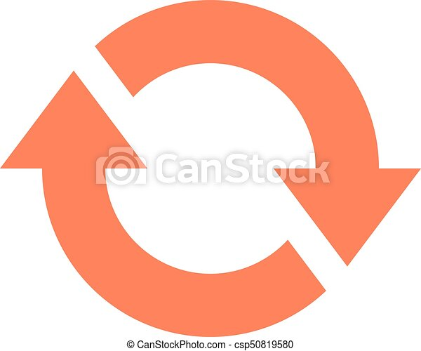 Arrow sign rotation icon reload button refresh - csp50819580