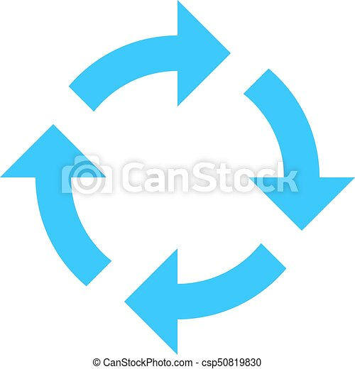 Arrow sign rotation icon reload button refresh - csp50819830