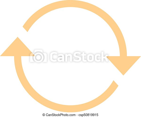 Arrow sign rotation icon reload button refresh - csp50819915