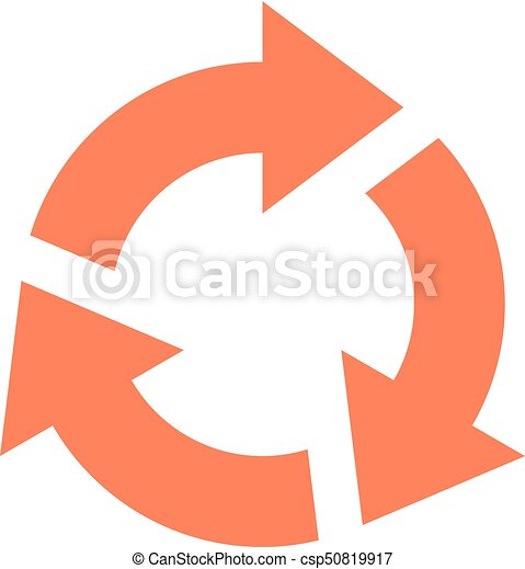 Arrow sign rotation icon reload button refresh - csp50819917