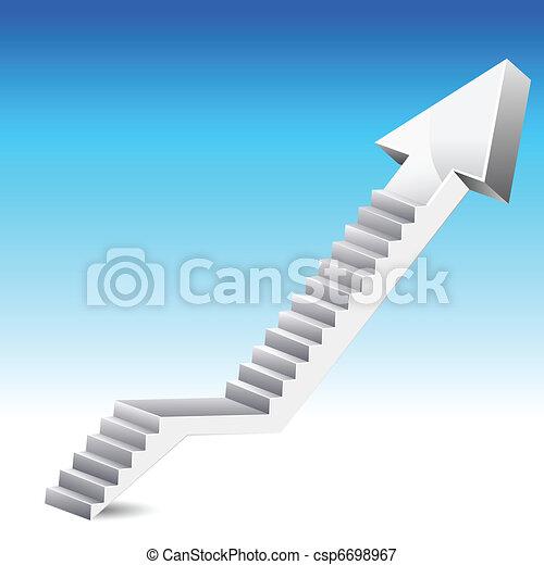 Arrow Stair - csp6698967