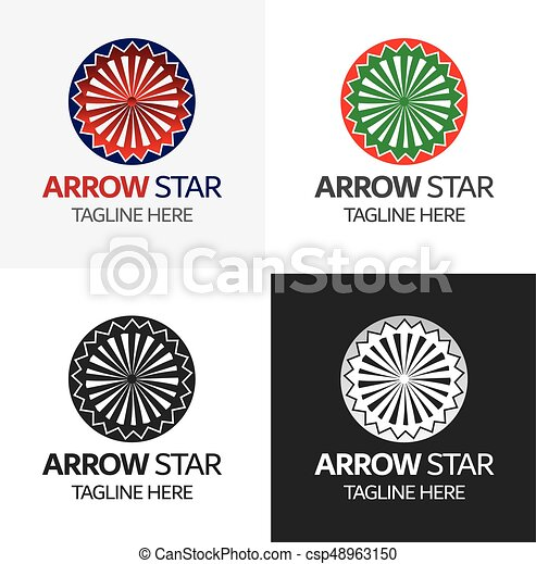 arrow star logo template modern loop logos and icons template