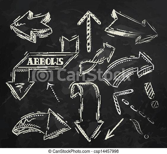 Arrow stylized drawing in chalk - csp14457998