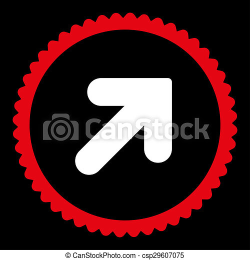 Arrow up right flat red and white colors round stamp icon arrow up arrow up right flat red and white colors round stamp icon csp29607075 altavistaventures Gallery