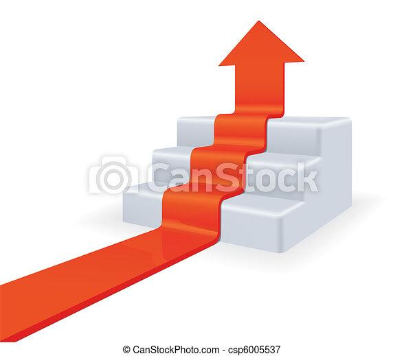 Arrow upstairs. Growth concept - csp6005537
