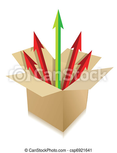 arrows coming out of box - csp6921641