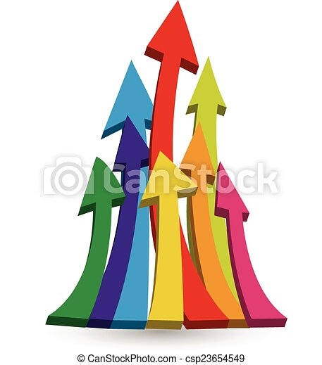 Arrows growing up logo - csp23654549