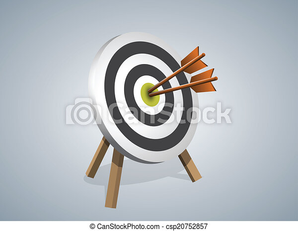 Arrows Hitting A Target, Vector illustration - csp20752857