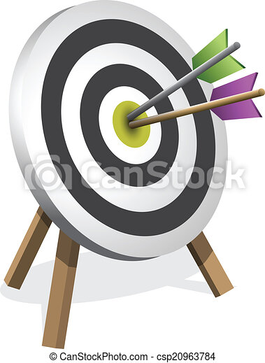 Arrows Hitting A Target, Vector illustration - csp20963784