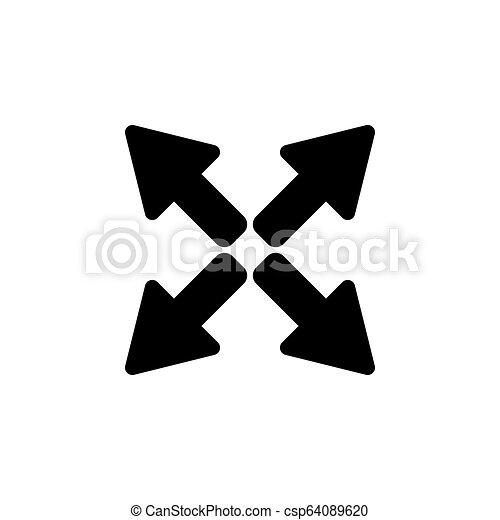 arrows icon. vector illustration black on white background - csp64089620
