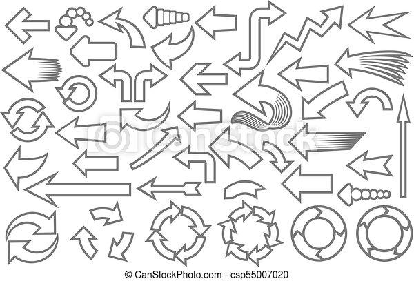arrows icons collection (set) - csp55007020