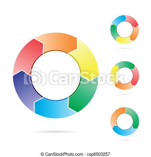 Arrows in a circle flow - csp6503257