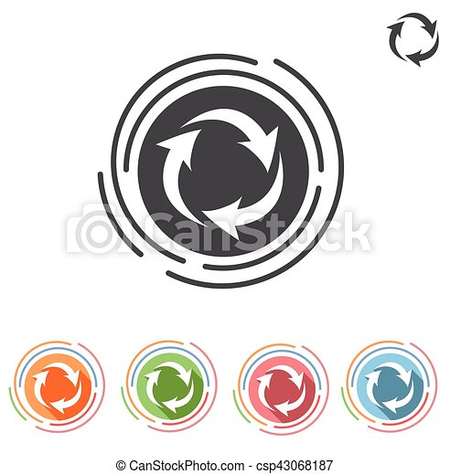 arrows in a circle process icon - csp43068187