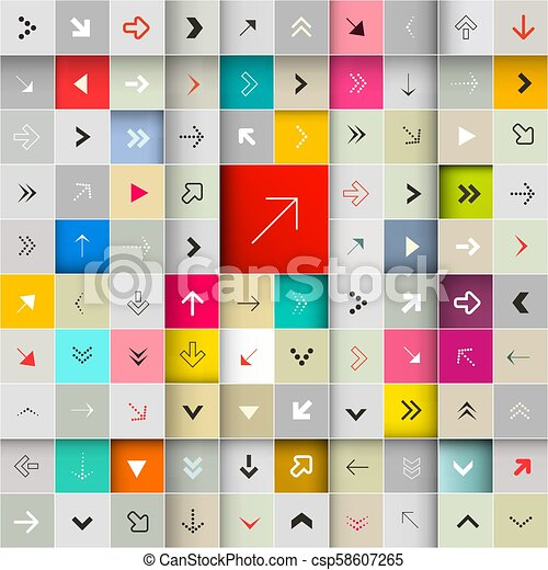 Arrows in Squares Vector Seamless Pattern - csp58607265