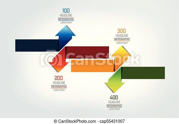 Arrows   infographic, chart, scheme, diagram. - csp55431007