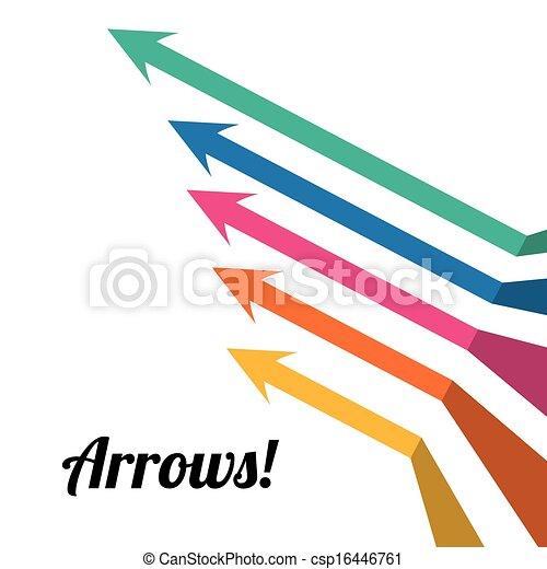 arrows infographics - csp16446761
