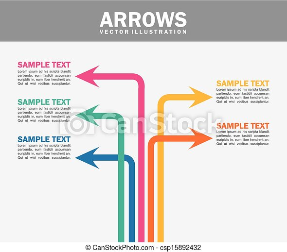 arrows infographics - csp15892432