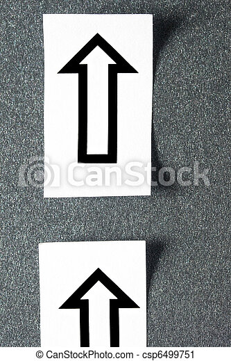 Arrows isolated on grey background - csp6499751