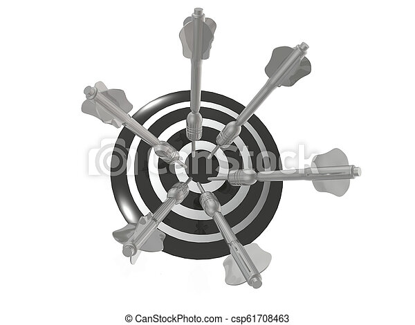 Arrows on the target - csp61708463