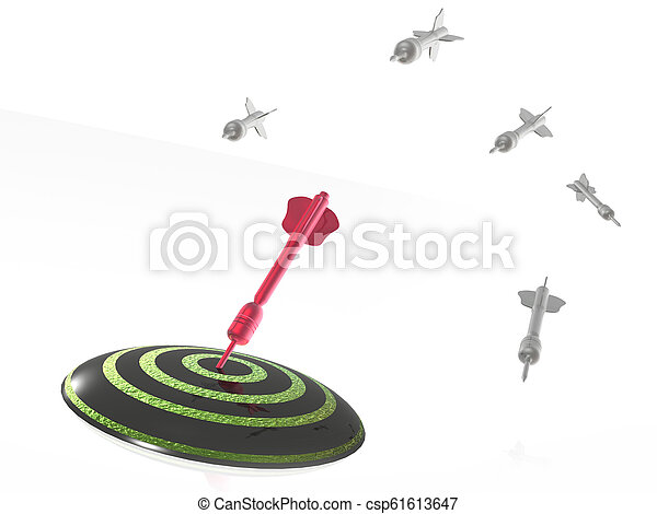 Arrows on the target - csp61613647