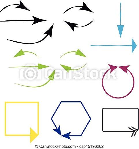 Arrows on white background - csp45196262