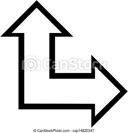 arrows on white background - csp14820347