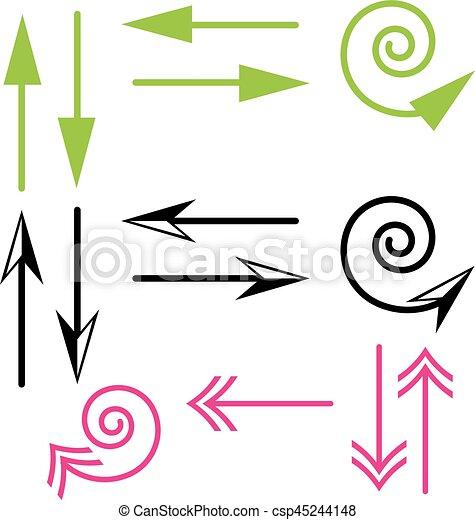 Arrows on white background - csp45244148