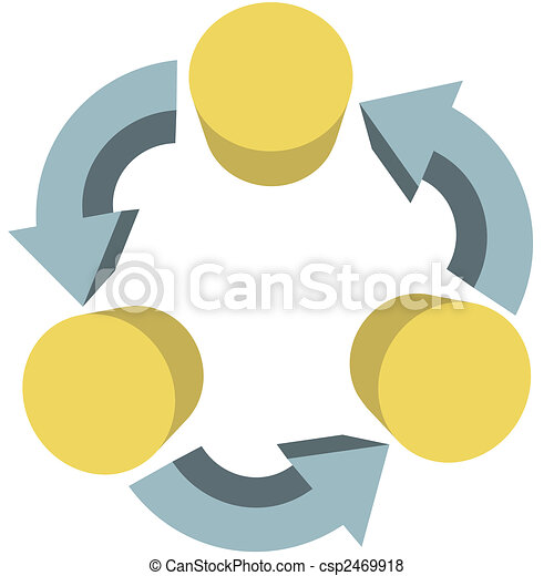 Arrows recycle workflow communications copy space - csp2469918