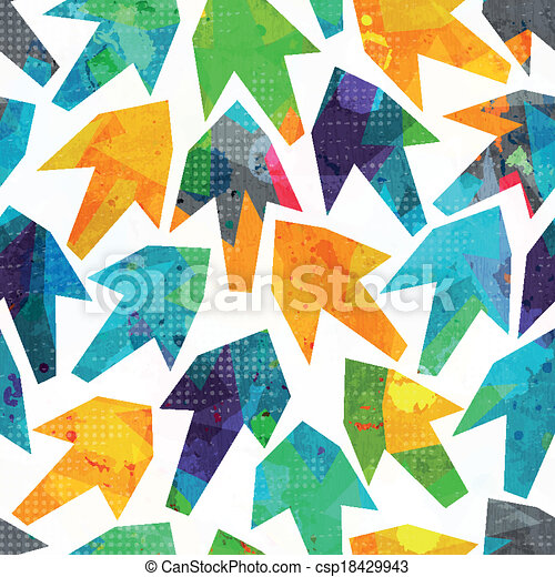 arrows seamless pattern with grunge effect - csp18429943