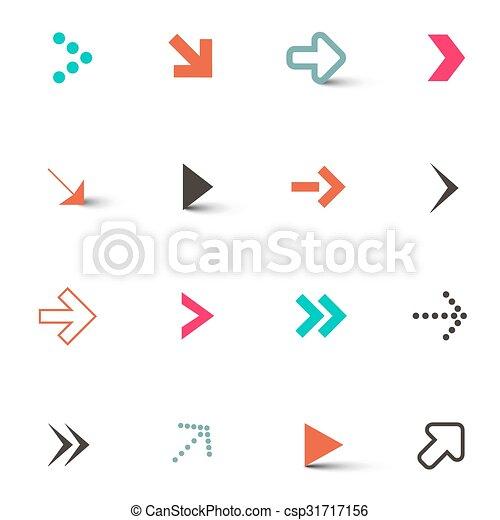 Arrows Set Isolated on White Background - csp31717156